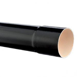 TUBE DE DESCENTE Ø 80 – 4 MÈTRES – NOIR