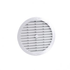GRILLE RONDE SIMPLE – BLANC