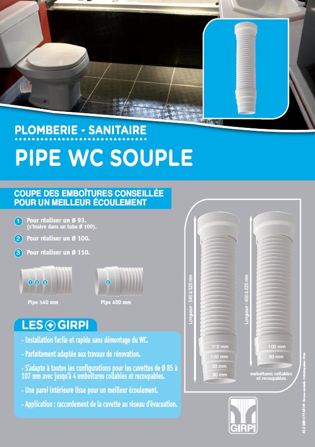 Pipe souple WC